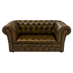 Leather Vintage English Chesterfield Sofa