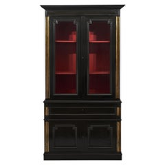 Ebonized French Neoclassical Bookcase