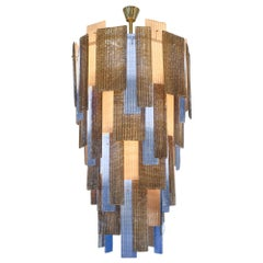 Multi-Color Murano Ridged Glass Chandelier