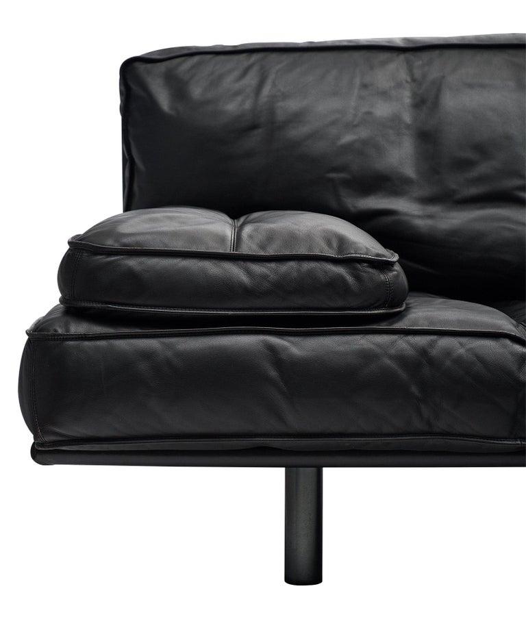 Modern Italian Leather Milano 210 Sofa by Zanotta For Sale