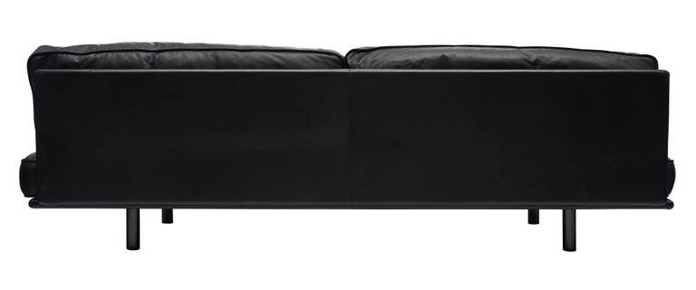 Italian Leather Milano 210 Sofa by Zanotta For Sale 1