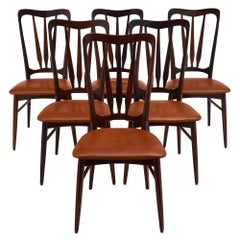 "Danish ""Ingrid"" Dining Chairs by Koefoeds Hornslet"