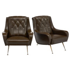 French Vintage Modernist Armchairs