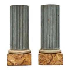 Painted French Antique Columns