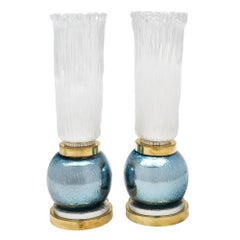 """""""Torchieres"""" Murano Glass Lamps"""