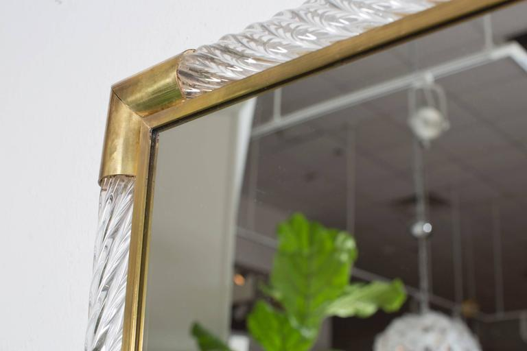 Italian Pair of Murano Mirrors by Ongaro e Fuga For Sale 2