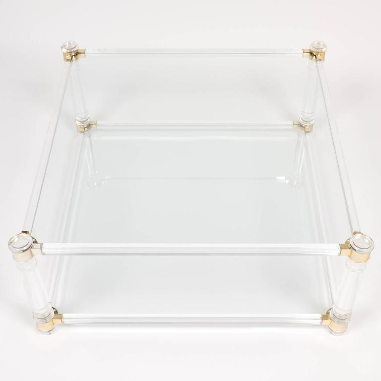 French Vintage Lucite Square Coffee Table At 1stdibs