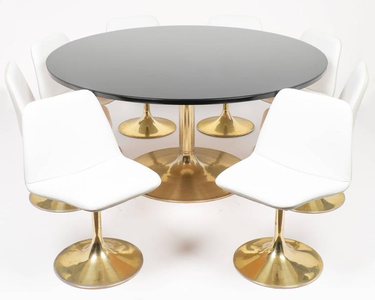Mid Century Modern Tulip Table And Chair Dining Set For Sale