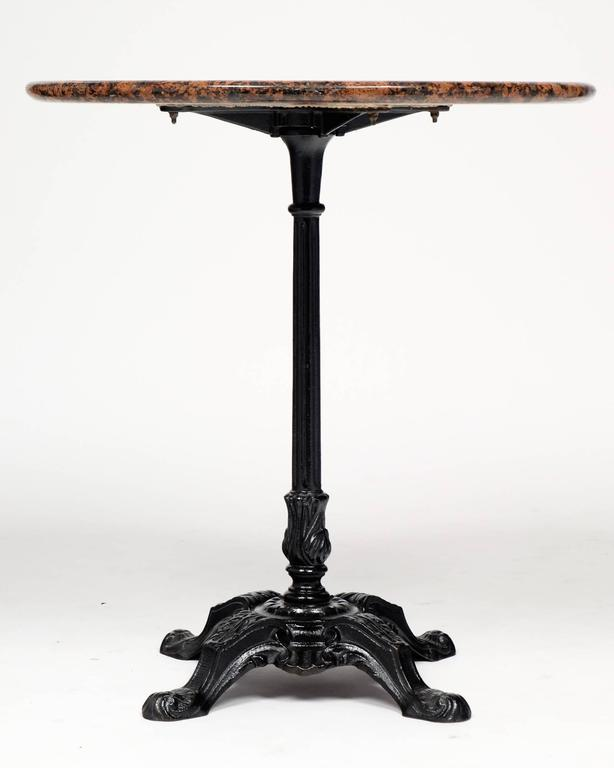 Good French Antique Marble Top Bistro Table 3