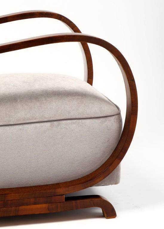 Austrian Art Deco Period Pair Of Armchairs At 1stdibs