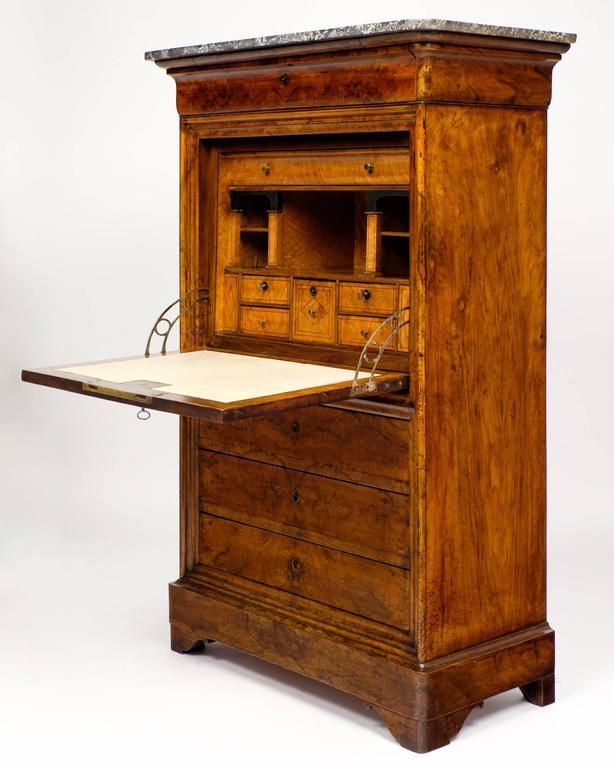 Antique French Louis Philippe Period Secretaire With Saint