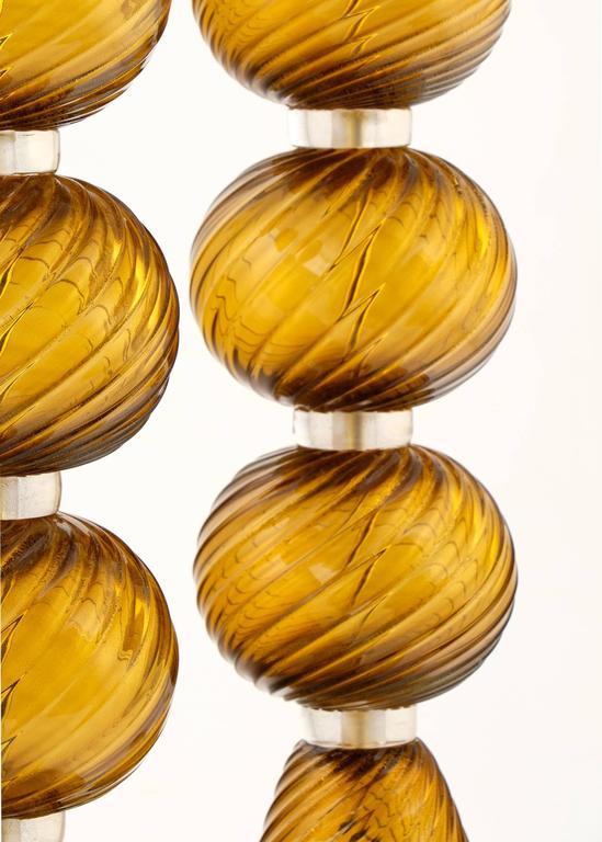 Gold Leaf Pair of Murano Tobacco