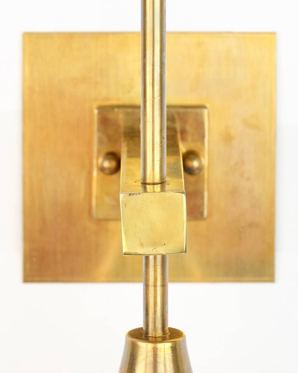 Italian Glass Wall Sconces : Italian Murano Glass and Brass Wall Sconces For Sale at 1stdibs