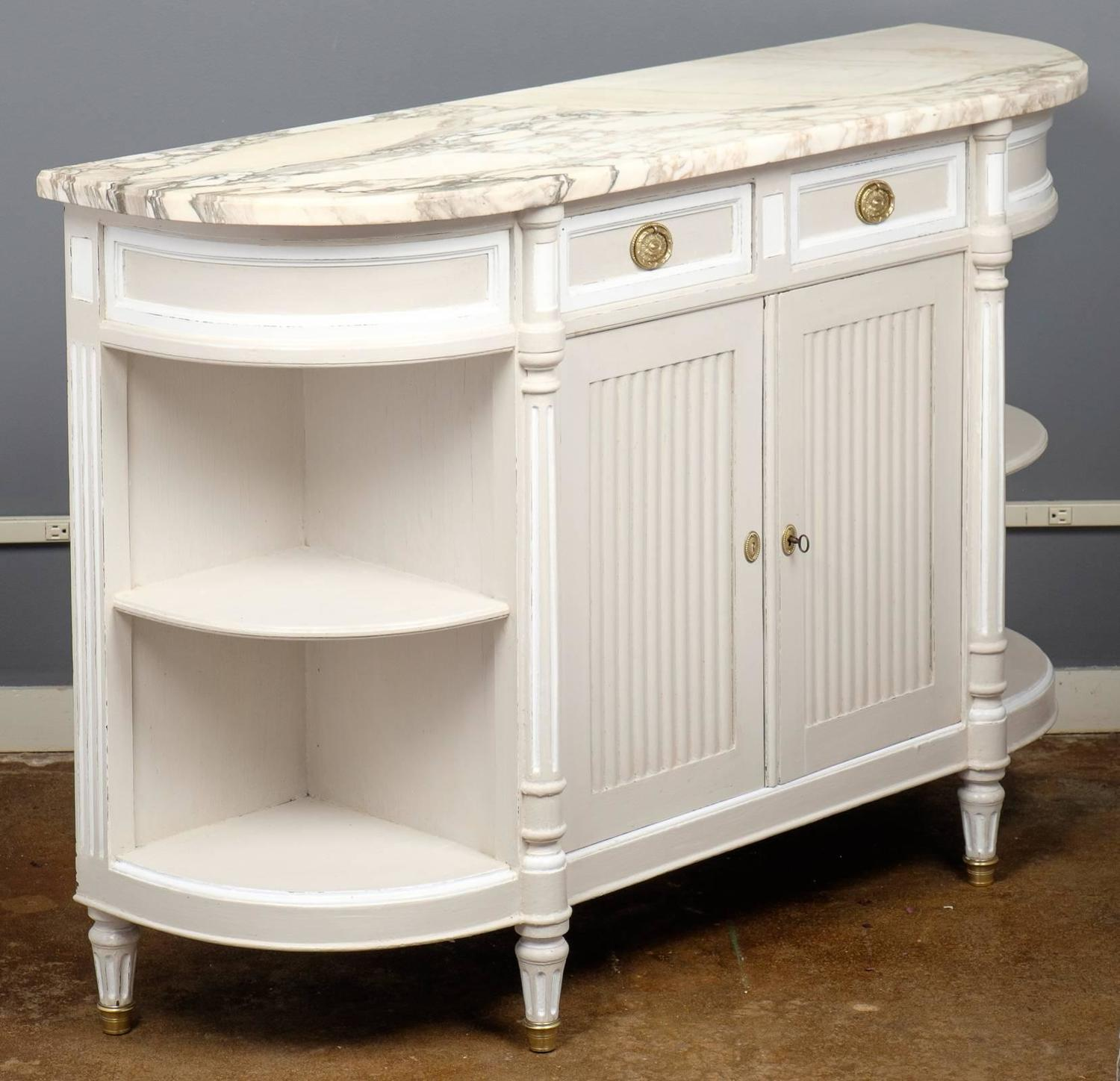 Marble Top Buffet ~ French louis xvi marble top sideboard at stdibs