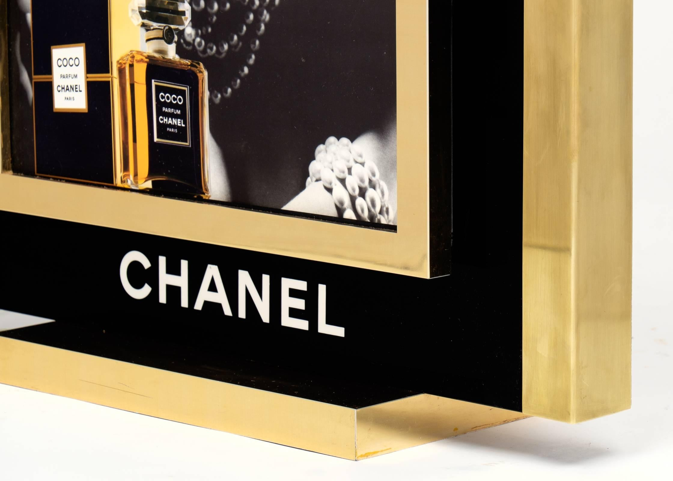 Coco Chanel Perfume Lightbox Ad at 1stdibs