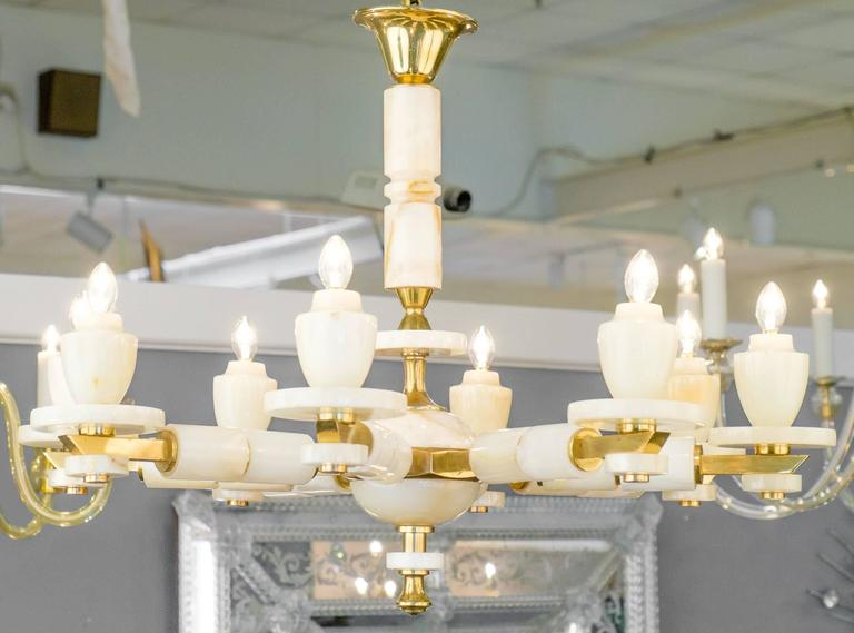 Vintage Onyx and Brass Chandelier with Eight Arms For Sale at 1stdibs – Onyx Chandelier