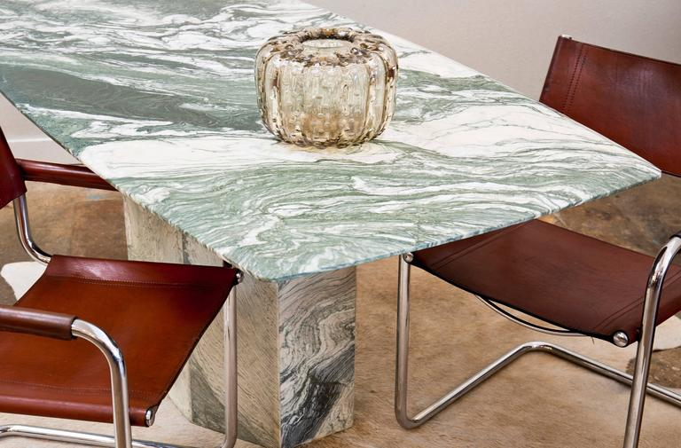 Verde Luana MarbleTop And Base Dining Table At Stdibs - French kitchen table with marble top