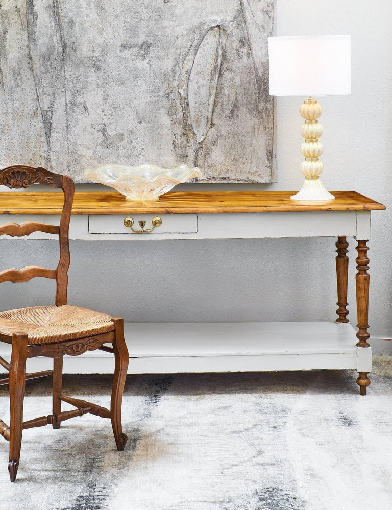 Antique Louis Philippe Turned Leg Console Table At 1stdibs