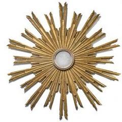 Large Antique Sunburst Mirror from Tuscany