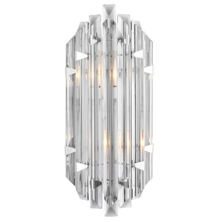 Murano Grey Glass Single Sconce in the Style of Venini