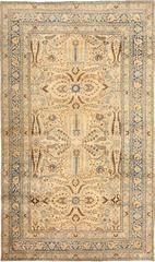 Cocoa and Light Blue Persian Khorassan Rug