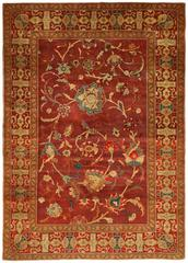 Deep Burgundy Indian Agra Rug