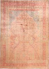 Tree of Life Silk Persian Kashan Rug