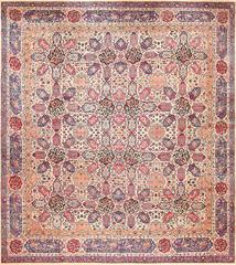 Fine Floral Antique Persian Kerman Rug