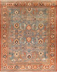 Large Blue Background Sultanabad Persian Rug