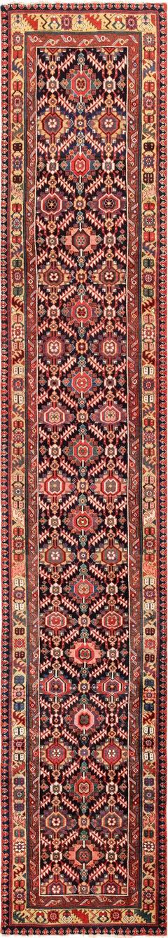 Tribal Long Antique Navy Northwest Persian Runner Rug