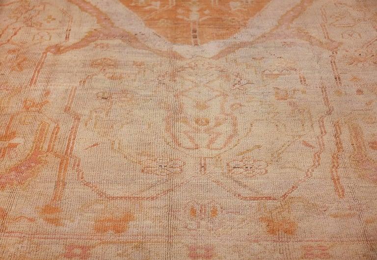 Antique Turkish Oushak Rug For Sale 4