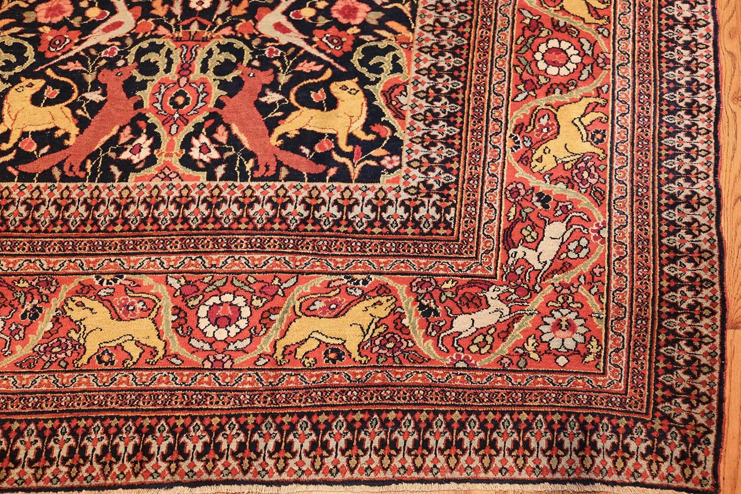 Persian rugs Dining Room Here Is Truly Impressive Antique Oriental Rug Persian Carpet Of Khorassan Design Claremont Rug Company Animal Motif Antique Persian Khorassan Rug For Sale At 1stdibs