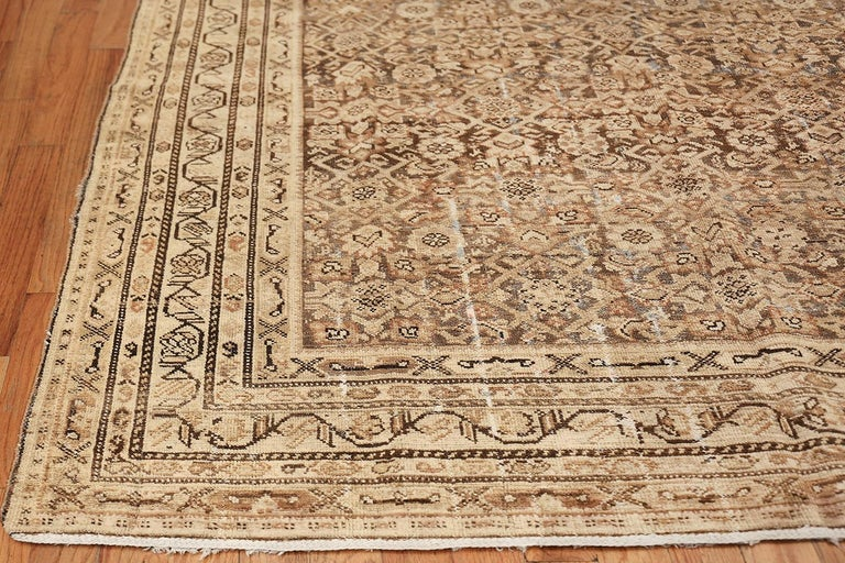 Antique Persian Shabby Chic Malayer Wide Hallway Gallery Rug For Sale 1