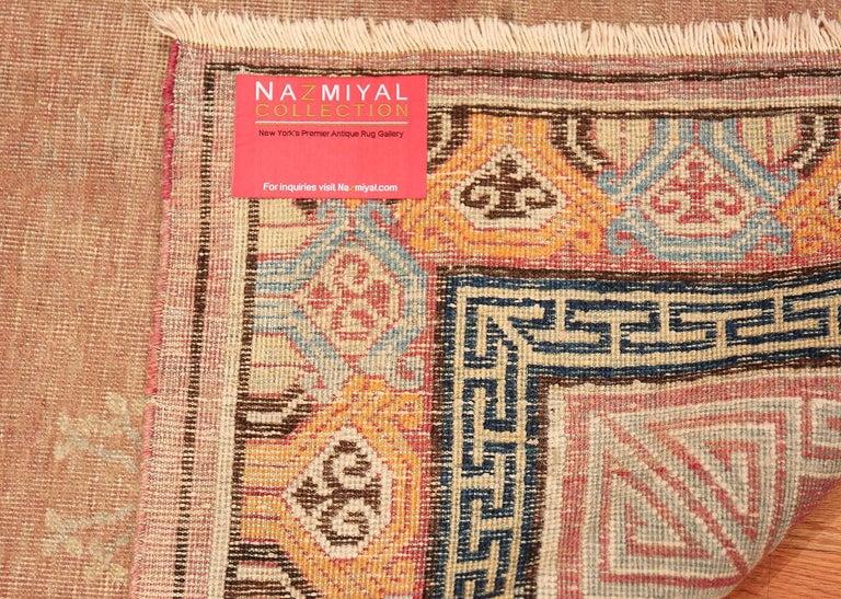 Antique Khotan Rug from East Turkestan For Sale 2