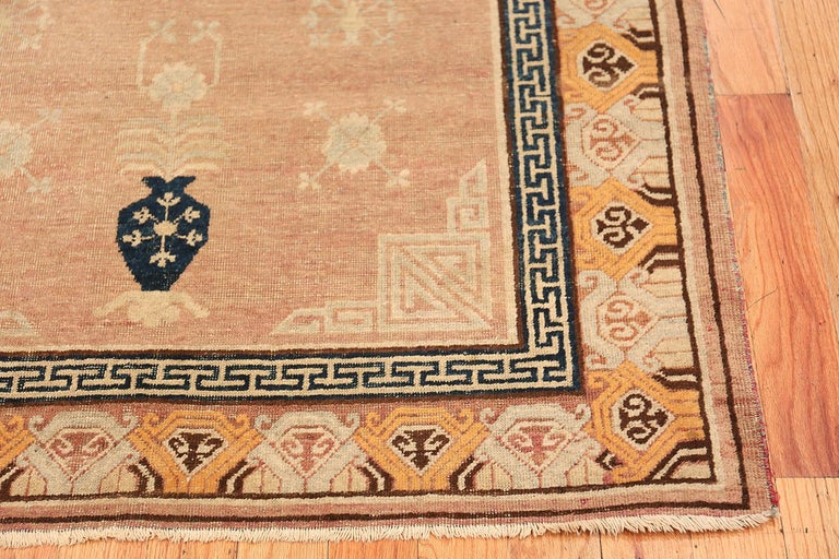 Antique Khotan Rug from East Turkestan In Excellent Condition For Sale In New York, NY