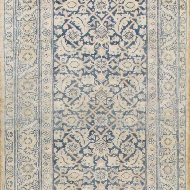 antique light blue decorative persian tabriz runner rug at. Black Bedroom Furniture Sets. Home Design Ideas
