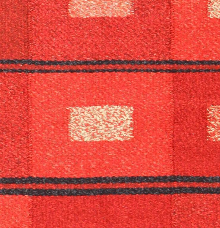 Vintage Scandinavian Swedish Kilim Rug For Sale At 1stdibs