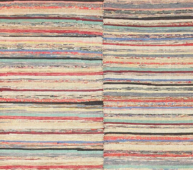 Antique American Large Rag Rug For Sale At 1stdibs