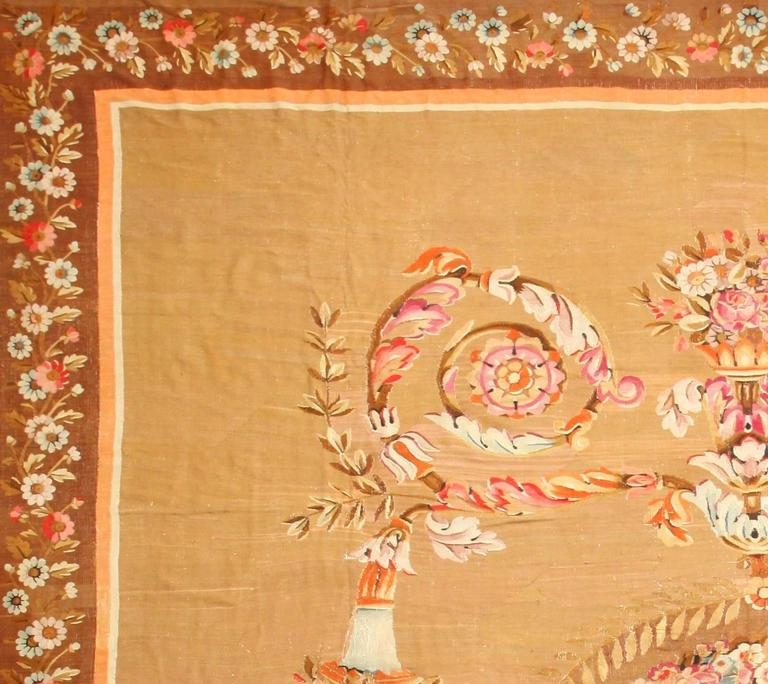 Large Aubusson Rug: Large Antique French Aubusson Carpet For Sale At 1stdibs