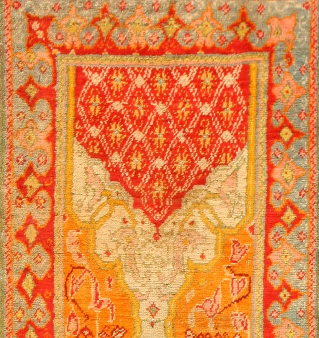 Antique Arts And Crafts Rugs: Antique Arts And Crafts Turkish Oushak Runner Rug For Sale