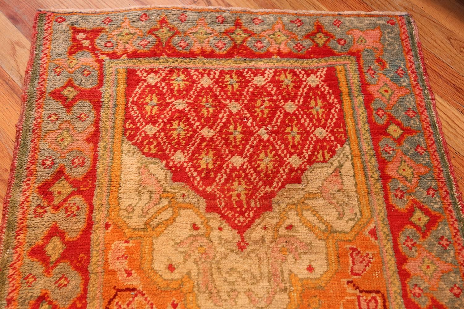 Antique Arts And Crafts Turkish Oushak Runner Rug 3