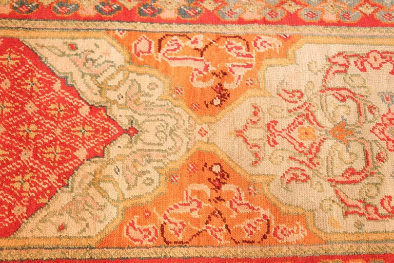 Antique arts and crafts turkish oushak runner rug for sale for Turkey country arts and crafts
