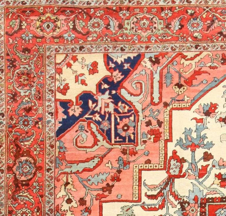 Large Antique Persian Heriz Serapi Rug 2