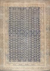 Rare Oversized Antique East Turkestan Khotan Rug 50347