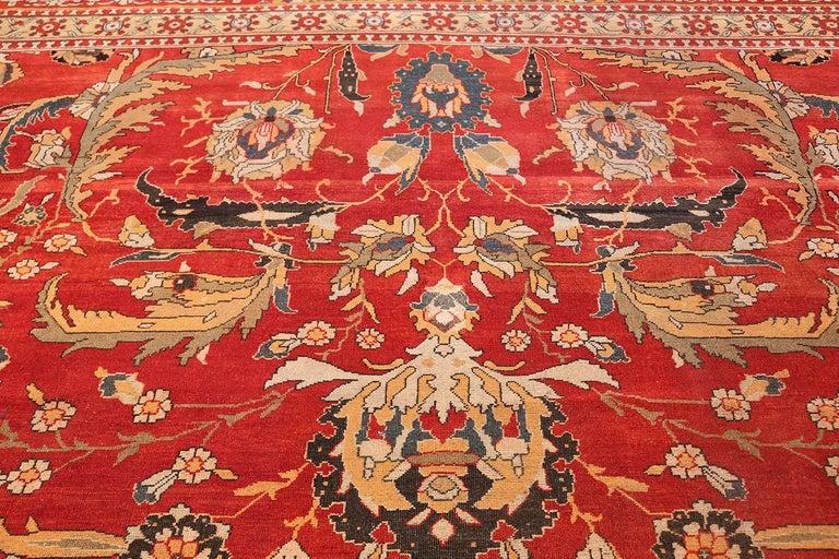 19th Century Antique Agra Carpet For Sale