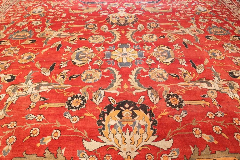 Wool Antique Agra Carpet For Sale