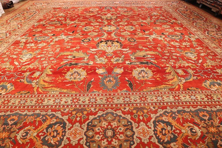 Antique Agra Carpet For Sale 3