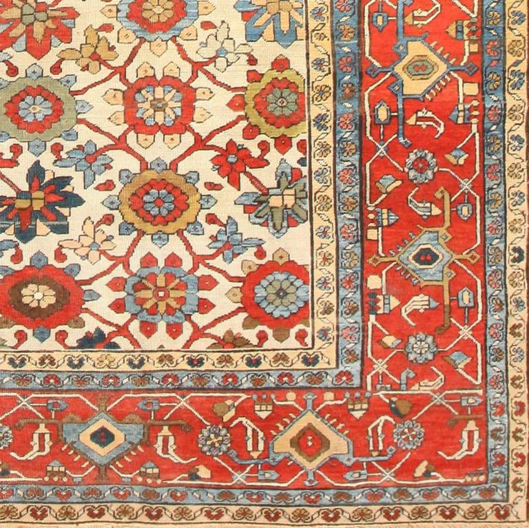 Large colorful antique persian serapi rug for sale at 1stdibs for Colorful rugs for sale