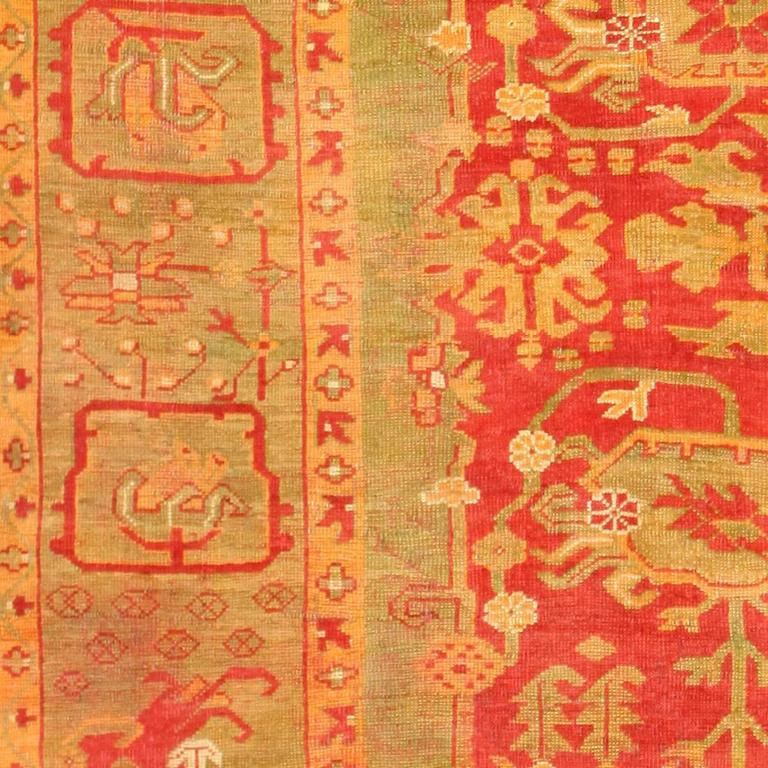 Antique Turkish Oushak rugs have been woven in Western Turkey since the beginning of the Ottoman period. Historians attributed to them many of the great masterpieces of early Turkish carpet weaving from the 15th to the 17th centuries. However, less