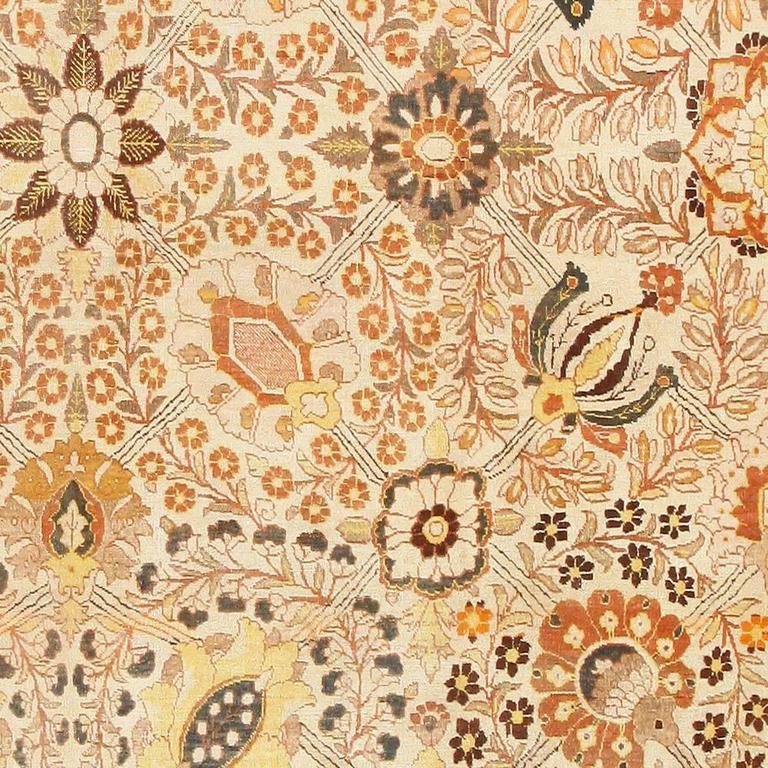 Modern Persian Tabriz Design Rug 44687 Nazmiyal Antique Rugs: Antique Haji Jalili Tabriz Rug For Sale At 1stdibs